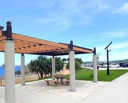 ゴリラチョップ(崎本部緑地公園)休憩場所の写真