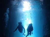 青の洞窟体験ダイビングの様子