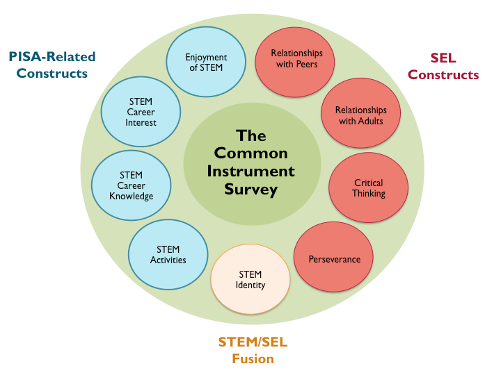 Image of the Common Instrument Suite survey components