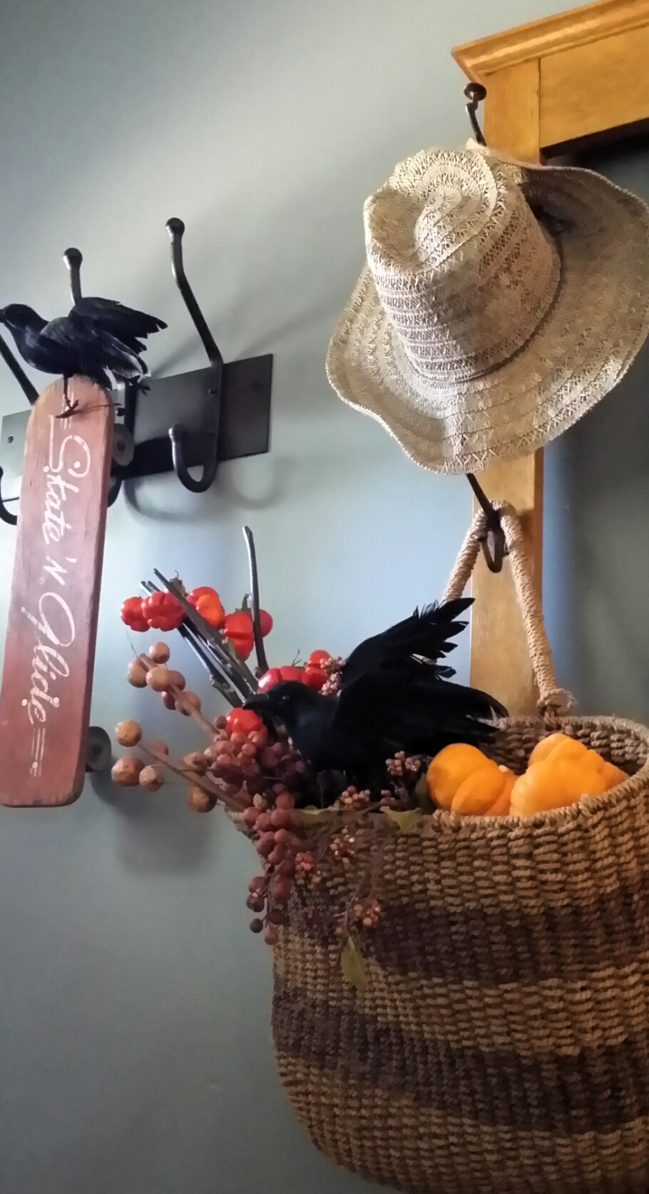 Foyer display for Halloween