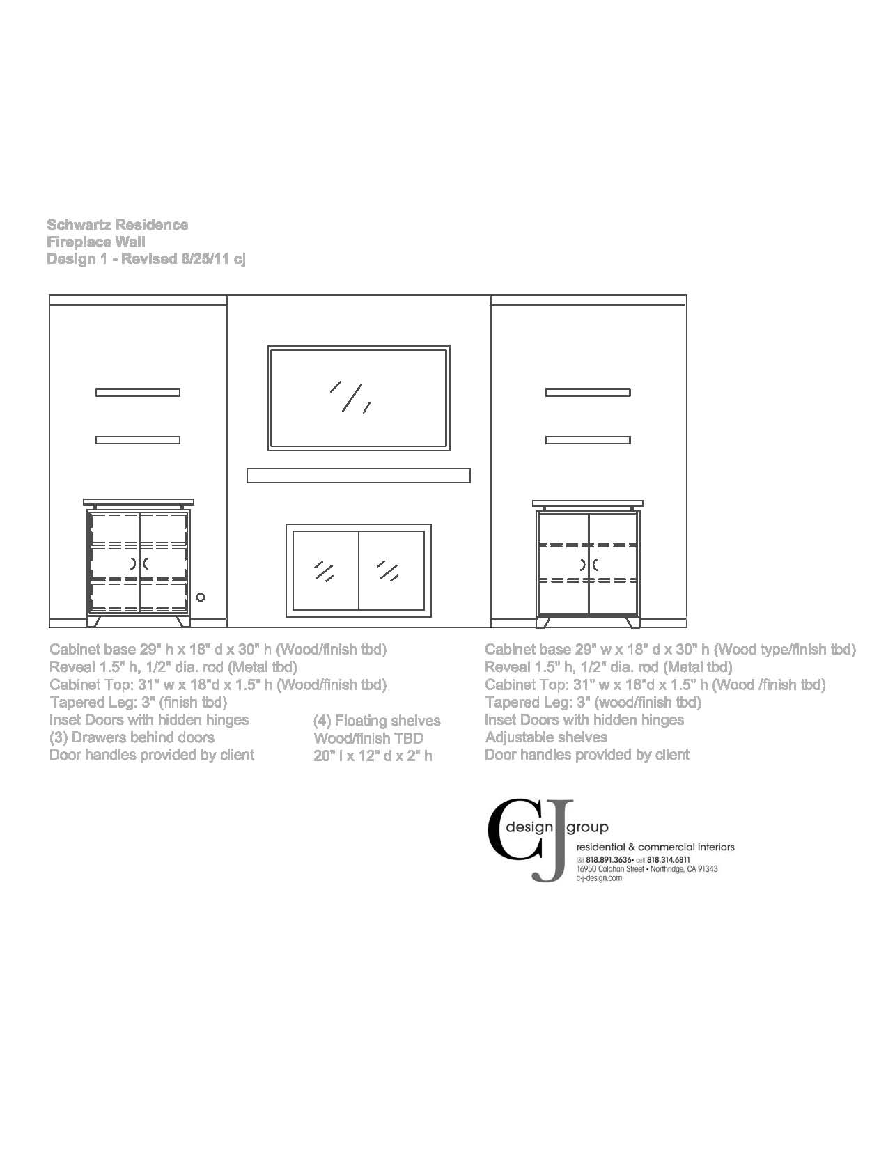 Concept design wall elevations