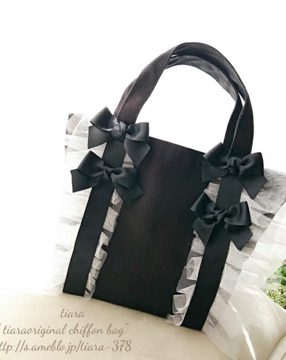 ♥縦型チュールバッグ♥