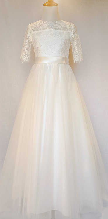 STYLE NO 6125 COMMUNION/ FLOWER-GIRL DRESS Call for Stock Availability