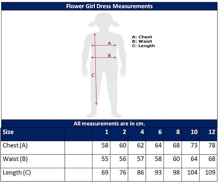 Flower Girl Dress Sizing