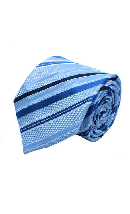 STYLE NO 59 WOVEN SKY BLUE STRIPED FASHION TIE