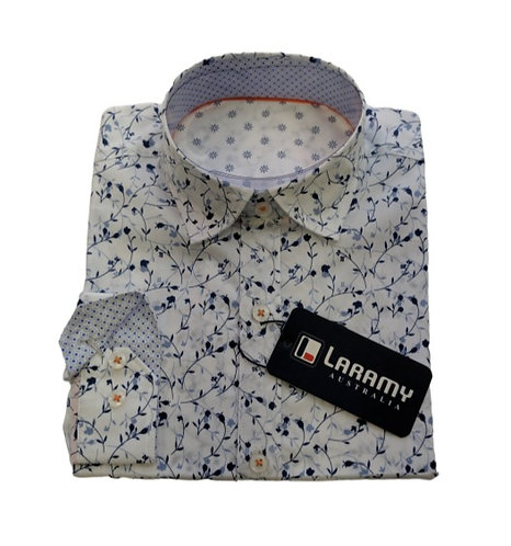1113 White Shirt With Floral Print