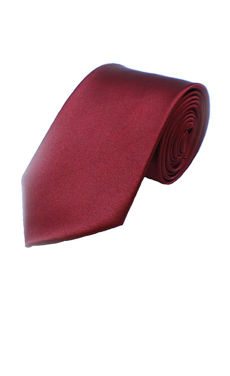 1005 BOYS SATIN PLAIN BURGUNDY