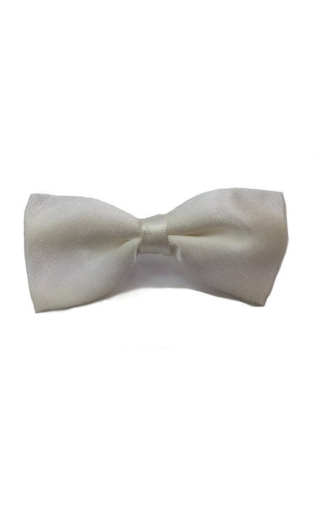 1006 SATIN BOYS FORMAL IVORY BOW TIE