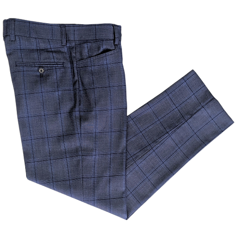 Style No. 473T Blue Check Boys Trouser