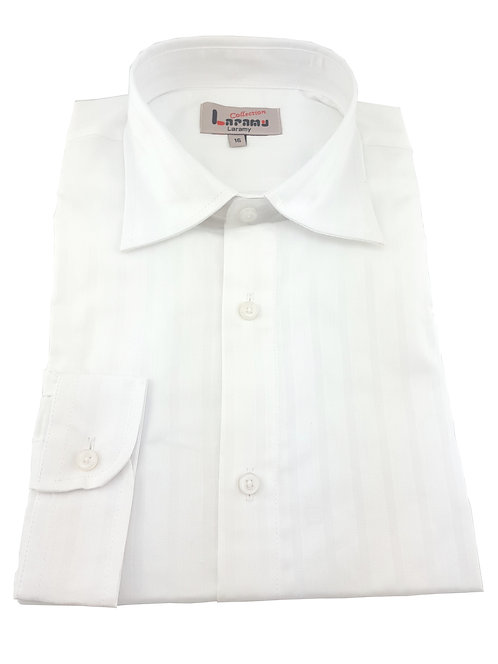 Boys White Striped Shirt