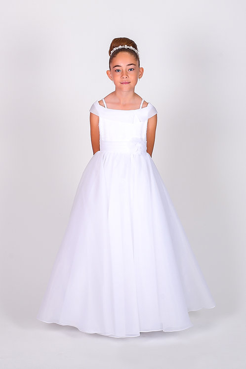STYLE NO 6107 COMMUNION/ FLOWER-GIRL DRESS Call for Stock Availability