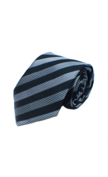 STYLE NO 45 BOYS WOVEN BLACK AND SILVER STRIPED