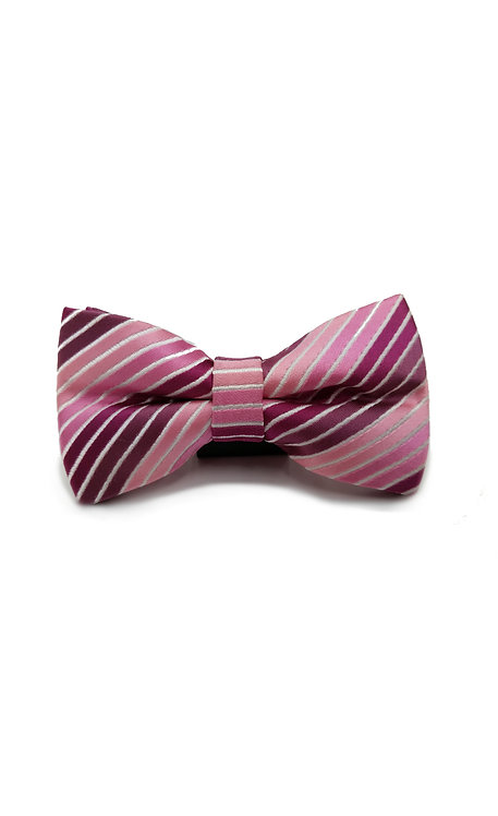 STYLE NO BT07 BOYS PINK STRIPE FASHION BOW TIE