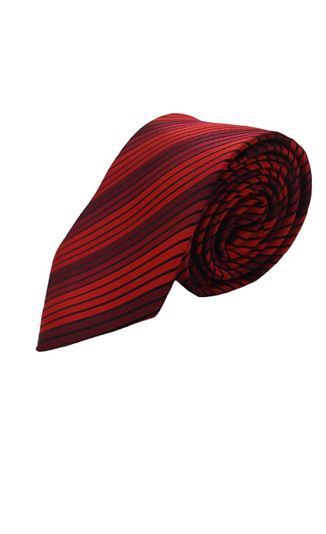 STYLE NO 70 BOY'S RED MULTI STRIPE TIE