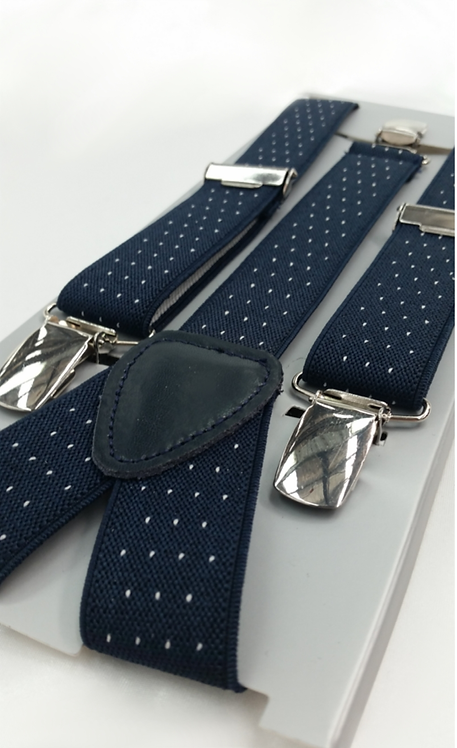 1014 NAVY DOT BRACES