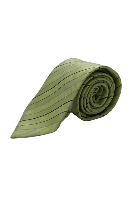 STYLE NO 72 BOY'S LIME MULTI STRIPE TIE