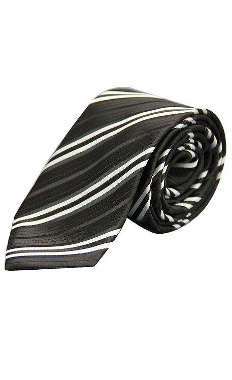 STYLE NO 58 BOYS WOVEN BLACK SLIVER STRIPE FASHION