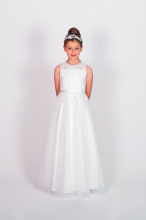 STYLE NO 6118 COMMUNION/ FLOWER-GIRL DRESS Call for Stock Availability