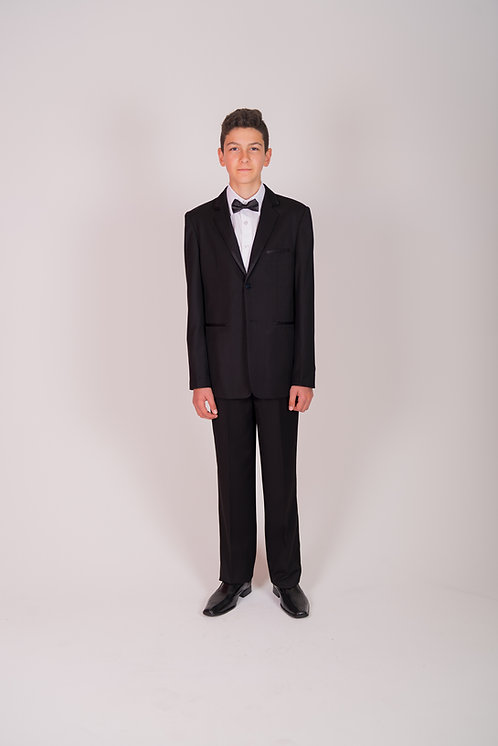 Style No. 467 Black Boys Suit With Satin Trim