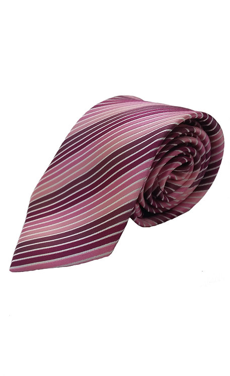 STYLE NO 68 BOY'S PINK MULTI STRIPE TIE