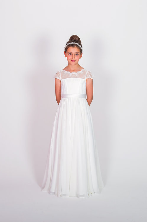 STYLE NO 6115 COMMUNION/ FLOWER-GIRL DRESS Call for Stock Availability