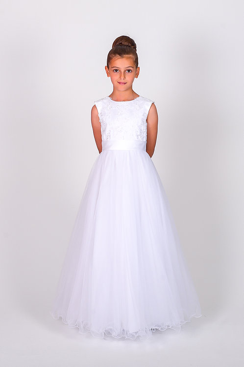 STYLE NO 6109 COMMUNION/ FLOWER-GIRL DRESS Call for Stock Availability