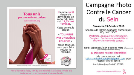 Campagne Photo Contre le Cancer du Sein.