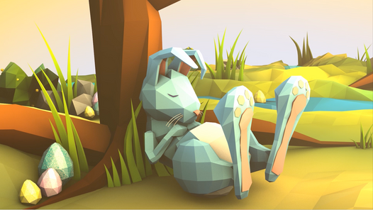 C4D Low Poly Easter
