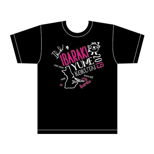 いばラッキー Tシャツ(黒/ドライ メッシュ素材)
