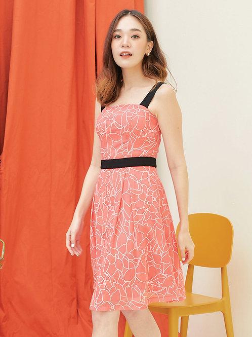 Lexi dress  - Orange
