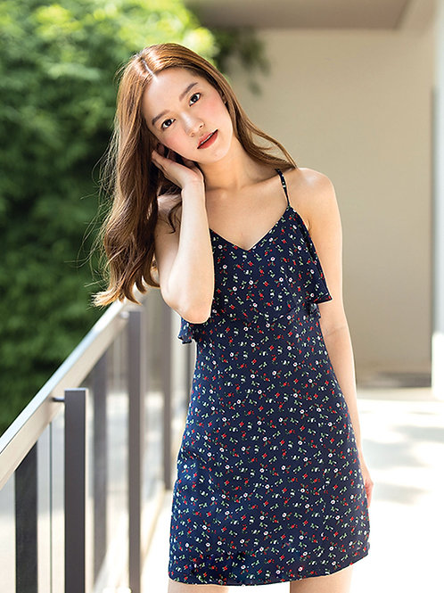 Katie Dress - Navy flower