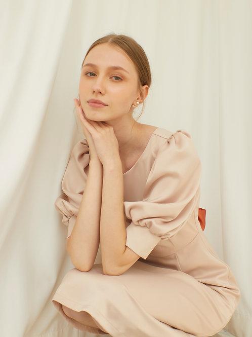 Audrey Dress - Rose Vanilla