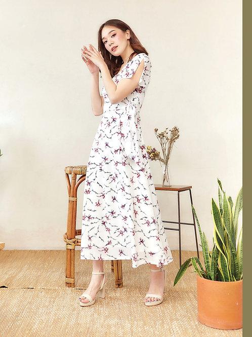 Primrose Dress  - White Flower