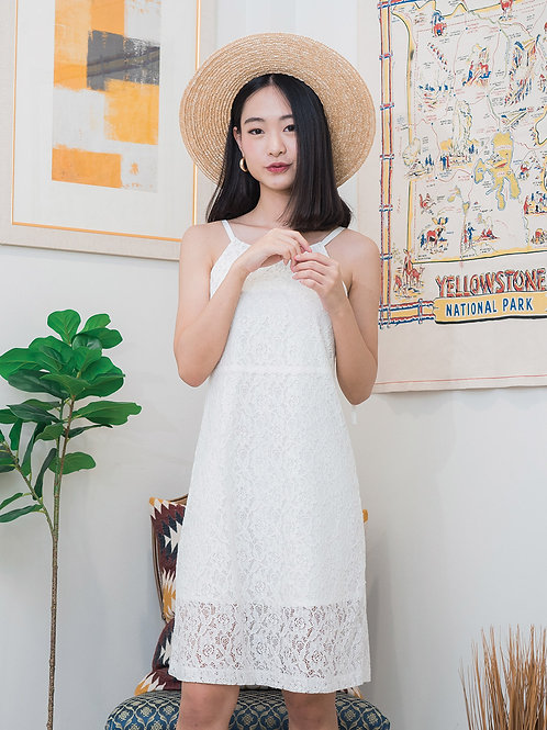 Lucy Dress - White Lace