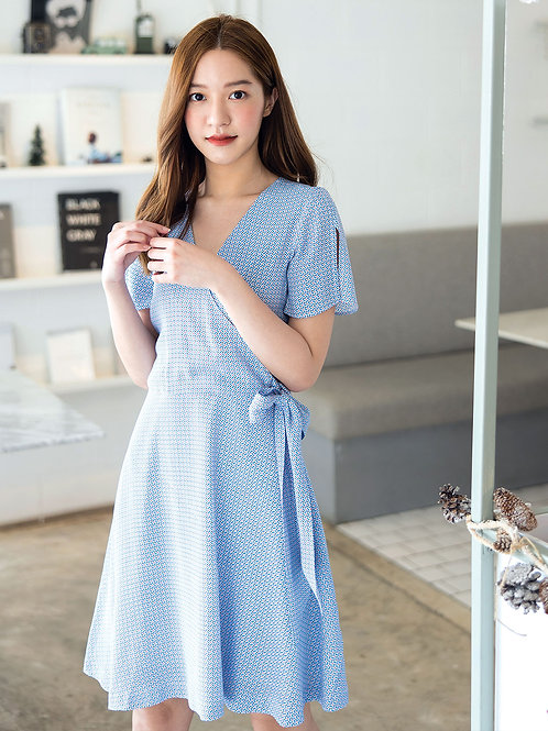 Kimberly Dress - Blue Graphic