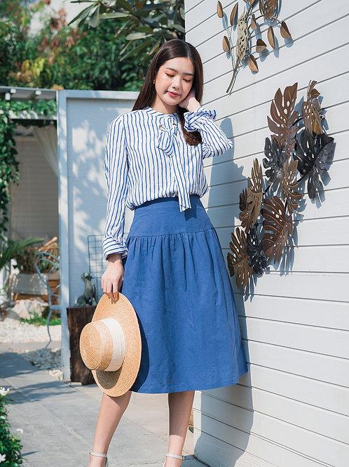 Skyline Shirt - Navy Stripe