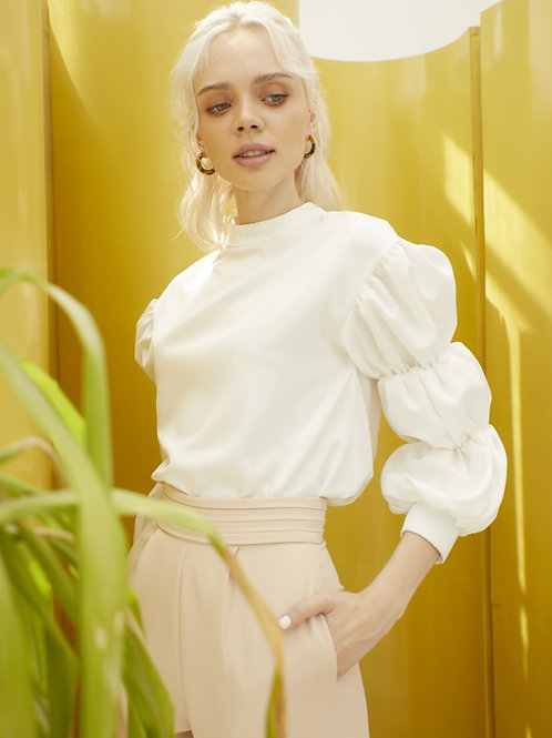 Quincy Blouse - Frosty White