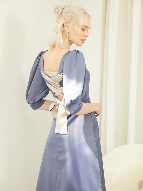 Audrey Dress - Iris Blue