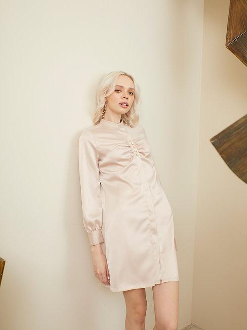 Camilia Shirt Dress - Rose Vanilla