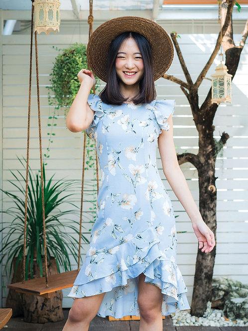Sandy Dress - Blue Flower