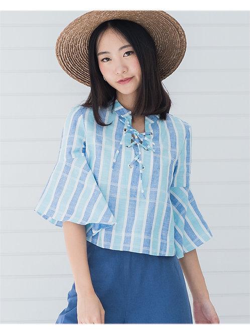 Claire Shirt - Blue Stripe