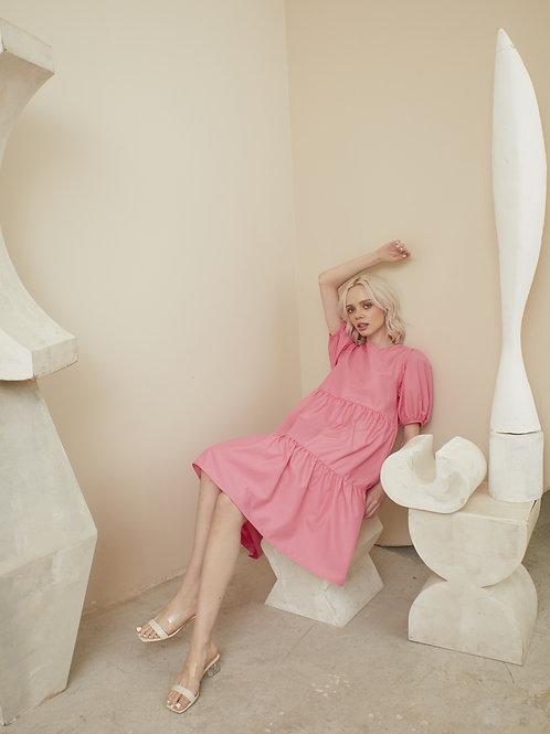Charlotte Dress - Rose Pink