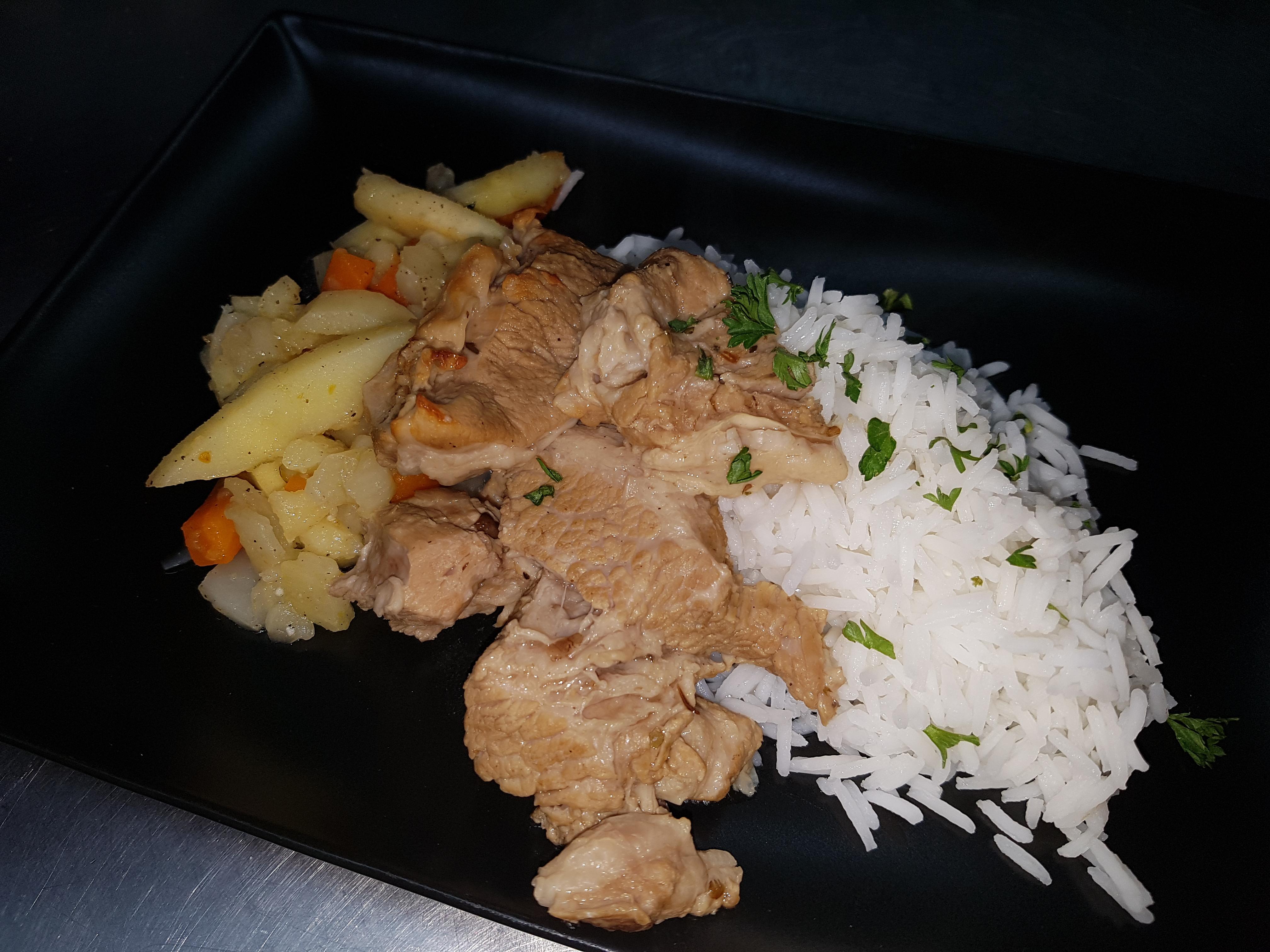 14/05 : Sauté de veau riz ratatouill
