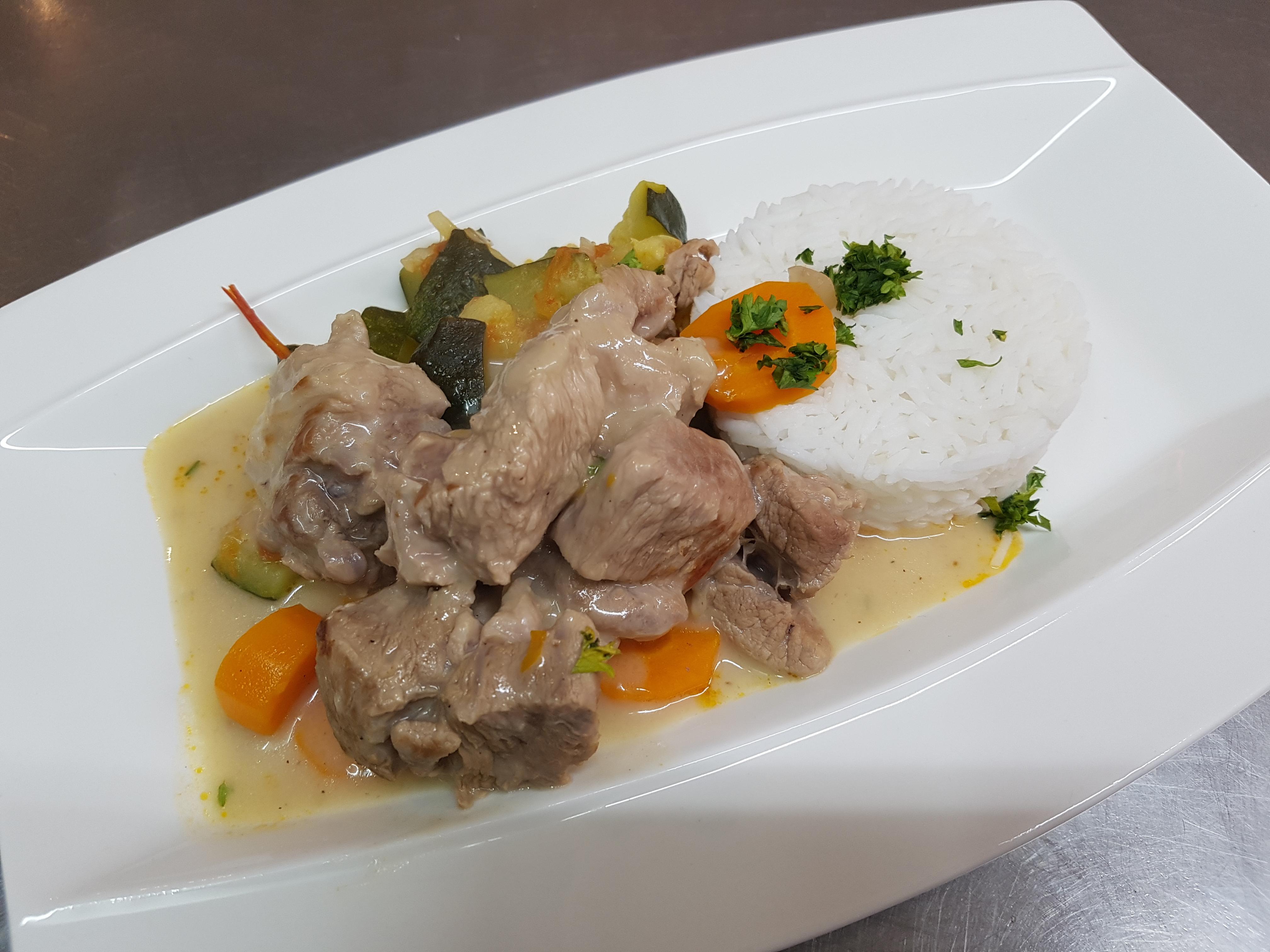 26/02 : Blanquette de veau, riz