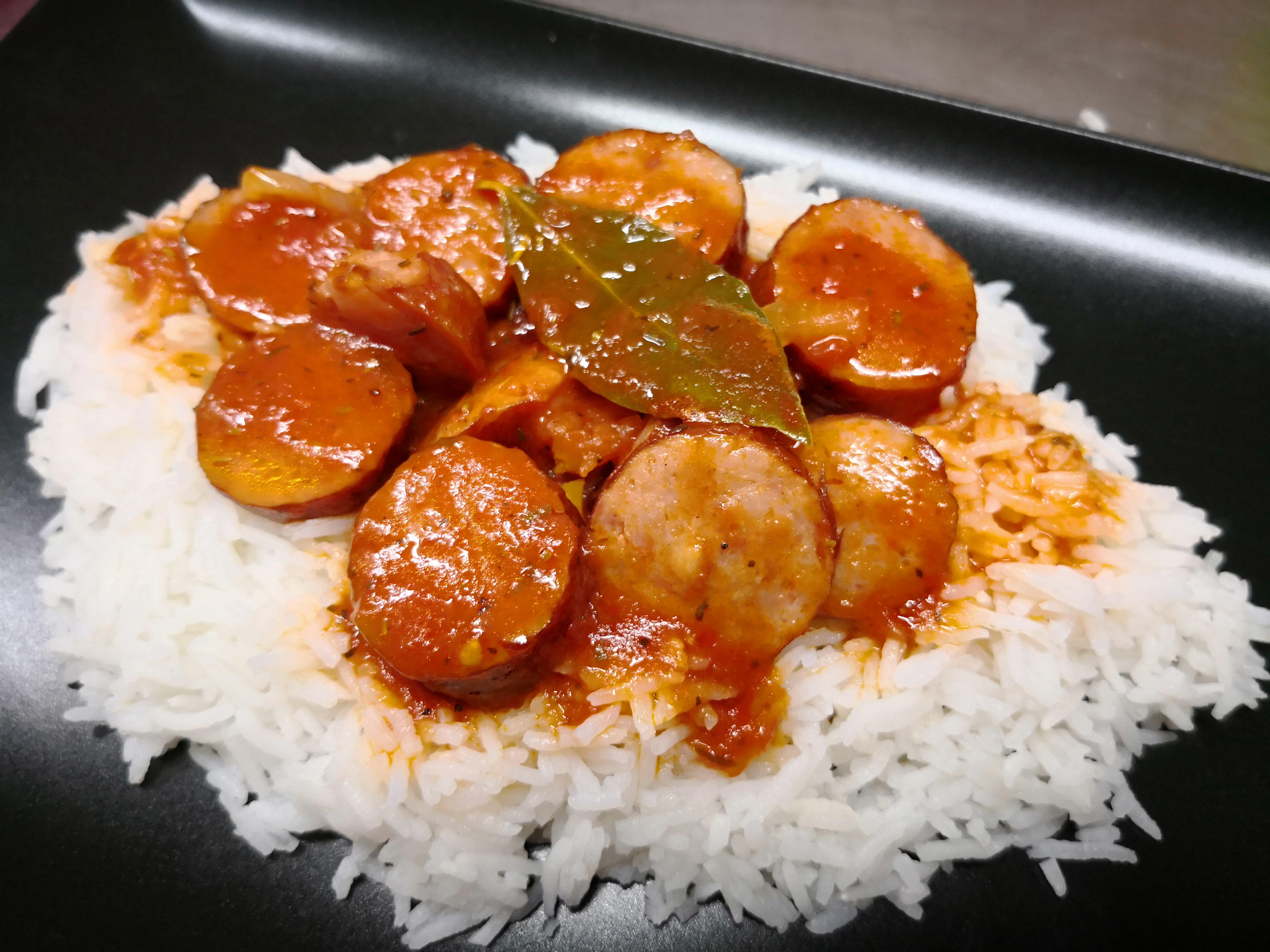 rougail saucisse - riz