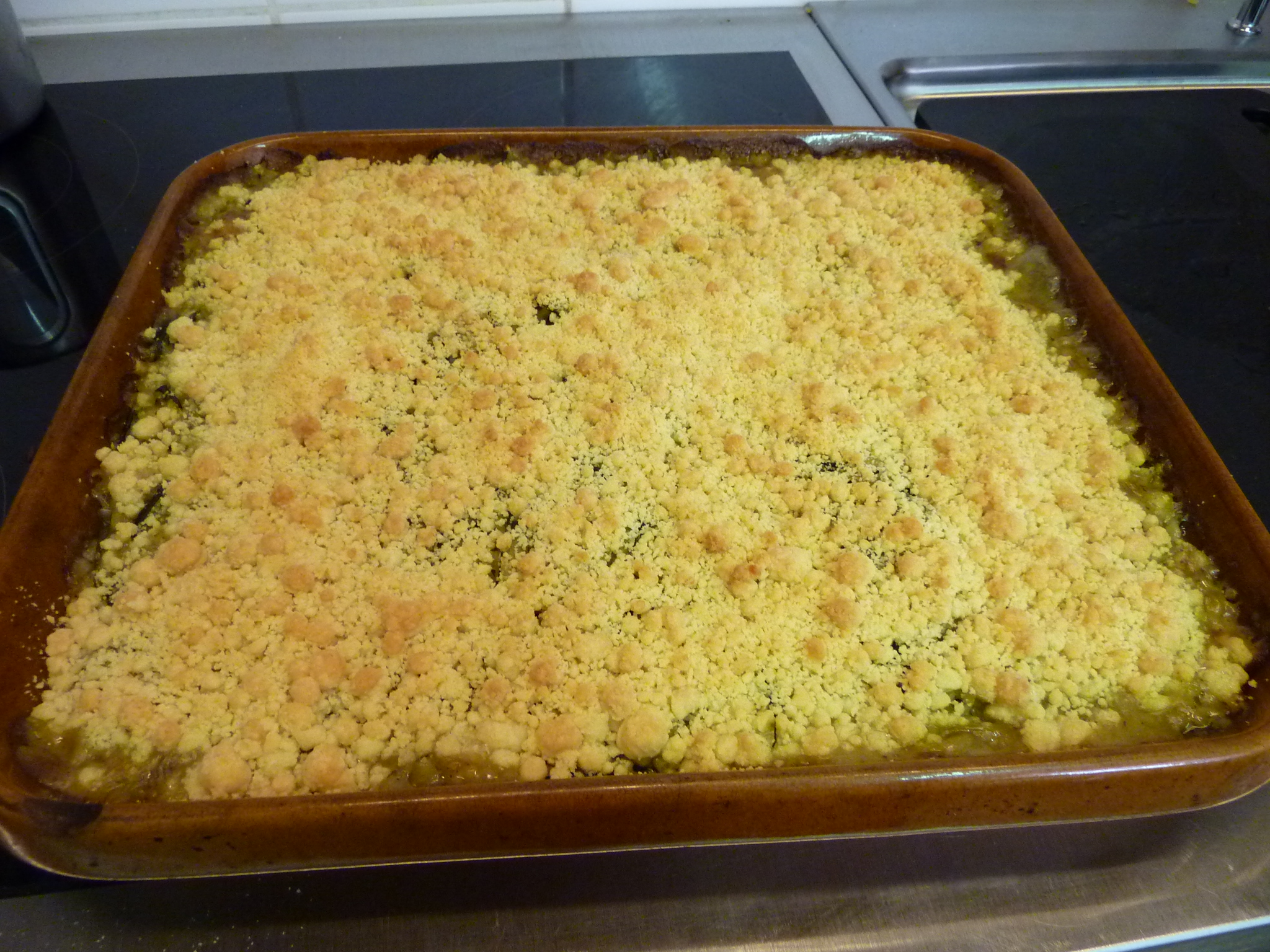 Crumble basilic-courgette