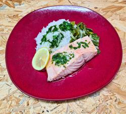 Filet de saumon frais sauce vierge citro