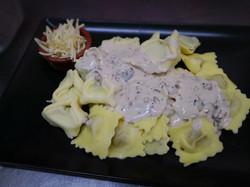Duo ravioli cèpes et ricotta/épinard