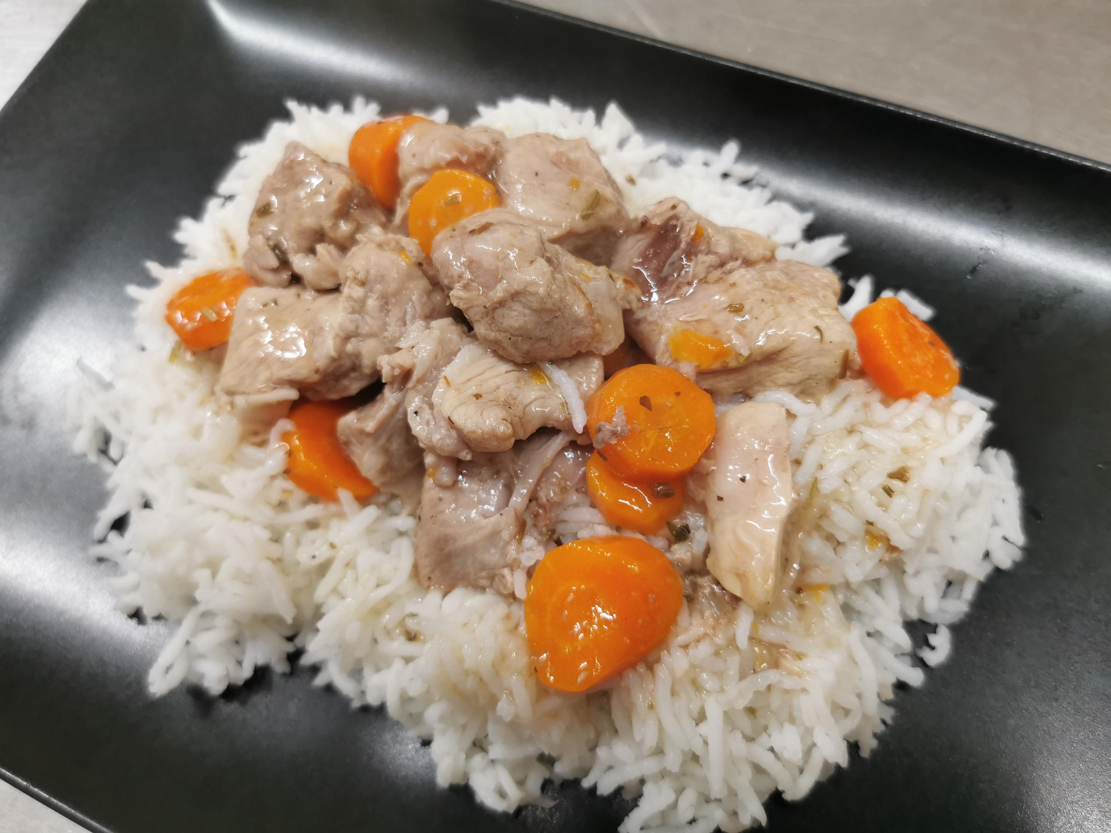 sauté veau riz basmati