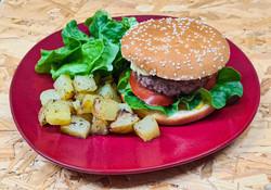 Burger de veau (avec ou sans pain) accom